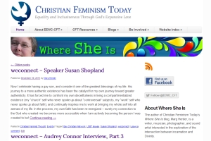 Where She Is blog on Christian Feminism Today